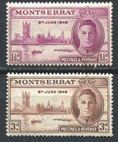 Picture of Монтсеррат 1946г. Gb# 113-4  • Выпуск Победа •  MNH OG / полн. серия