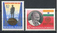 Picture of Тринидад 1970г. SC# 181-2  • Махатма Ганди •  MNH OG XF / полн. серия