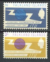 Изображение Фолклендские о-ва 1965 г. Iv# 219-29 • 100 лет Международному Телекоммуникационному Союзу(ITU) • MNH OG XF • полн. серия