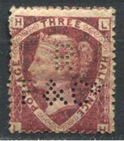Изображение Великобритания 1870 г. • Gb# 51 • 1 1/2d. Королева Виктория. перфин. • MH OG VF ( кат.- £ 500 )