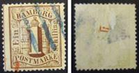 Изображение Гамбург 1859 г. Mi# 11 • Номинал в Гамбургском замке. 1 шиллинг • Used VG ( кат.- €22 )