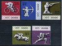 Image de СССР 1977г. Сол# 4746-50 • Олимпиада-80, Москва • MNH OG Люкс • полн. серия