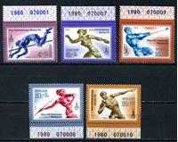 Изображение СССР 1980г. Сол# 5044-8 • Олимпиада - 80(2-й выпуск) • MNH OG Люкс • полн. серия