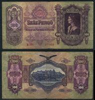 Bild von Венгрия  1930г.  P# 98 • 100 пенго •  регулярный выпуск F+