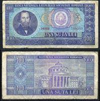Picture of Румыния 1966 г. P# 97 • 100 лей • F+