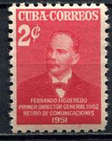 Изображение Куба 1951г. SC# 456  • 2c. Фернандо Фигуередо •  MNH OG XF ( кат.- $2 )
