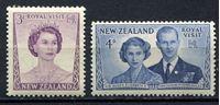 Изображение Новая Зеландия 1953г. Gb# 721-2  • 3d. и 4d. •   Королевский визит • MNH OG XF / полн. серия