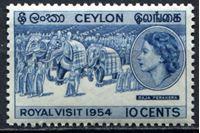 Picture of Цейлон 1954г. Gb# 434  • 10c. •   Королевский визит • MNH OG XF