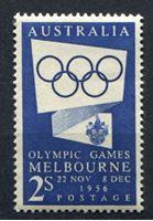 Изображение Австралия 1954г. Gb# 280  • 2sh. Олимпиада-1956 Мельбурн •  MNH OG XF ( кат.- £1,75 )