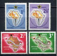 Изображение Гана 1958г. Gb# 189-92  • Конференция независимых африканских государств •  MNH OG XF / полн. серия