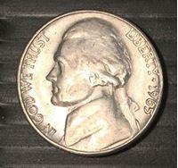 Изображение США 1956 г. • KM# A192 • 5 центов. Джефферсон • AU+