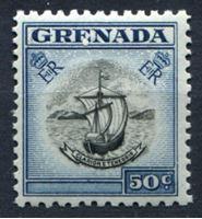 Image de Гренада 1953-59 гг. Gb# 202 • Елизавета II основной выпуск • 50c. Каравелла Колумба • MNH OG XF ( кат.- £6 )