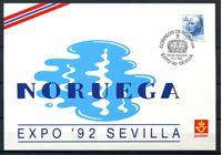 Image de Норвегия  1992г. SC# 1007  • 3.30kr. Экспо-92 Севилья •   стандарт • Used(СГ) XF / ПК