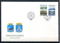 Image de Норвегия  1992г. SC# 1026-7  • 250-летие норвежских городов •  Used(СГ) XF / КПД / полн. серия
