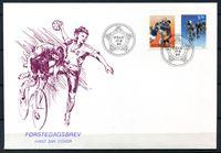 Изображение Норвегия 1993 г. SC# 1040-1 • Чемпионаты мира в Осло. Гандбол и велоспорт • Used(СГ) XF • полн. серия
