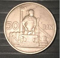 Изображение Румыния 1955 г. • KM# 86 • 50 бани • кузнец • регулярный выпуск • XF+ ( кат.- $25,00 )