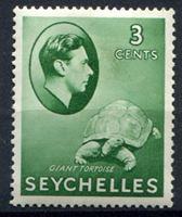 Image de Сейшелы 1938-49 гг. Gb# 136 • 3c. черепаха • MH OG VF ( кат.- £10 )