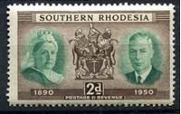 Изображение Южная Родезия 1950г. Gb# 70  • 2d. 60 лет колонии •  MNH OG XF