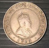 Bild von Ямайка 1905 г. • KM# 22 • пол пенни • тираж - 48 тыс. шт. • регулярный выпуск • XF
