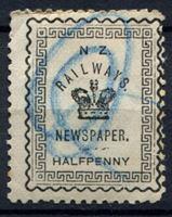 Изображение Новая Зеландия 1890 г. • 1/2d. Почта железной дороги. • газетный выпуск • Used VF