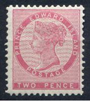 Изображение Принца Эдуарда о-в 1870 г. Gb# 27 • 2d.. Королева Виктория • MLH OG XF ( кат.- £16 )
