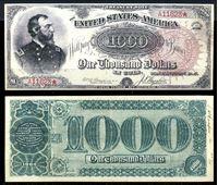 Изображение США 1890 г. P# 350 • 1000 долларов. Генерал Грант • казначейский выпуск • копия • UNC пресс