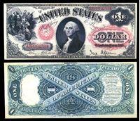 Picture of США 1875 г. P# 157 • 1 доллар. Джордж Вашингтон • копия • UNC пресс