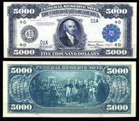 Picture of США 1918 г. P# 366 • 5000 долларов. Джеймс Мэдисон • копия • UNC пресс