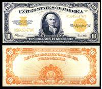 Picture of США 1922 г. P# 274 • 10 долларов. Майкл Хиллегас • казначейский выпуск • копия • UNC пресс