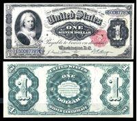 Picture of США 1891 г. P# 326 • 1 доллар. Марта Вашингтон • казначейский выпуск • копия • UNC пресс