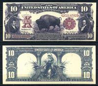 """Picture of США 1901 г. P# 185 • 10 долларов. """"Бизон"""" • регулярный выпуск • копия • UNC пресс"""