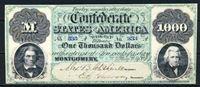 Изображение Конфедерати́вные Шта́ты Аме́рики 1861 г. P# 4 • 1000 долларов. Колхаун и Джексон • регулярный выпуск • копия • UNC пресс