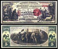 Picture of США штат Вашингтон 1875 г. • Валла-Валла • Первый Национальный Банк • 5 долларов • копия • UNC пресс
