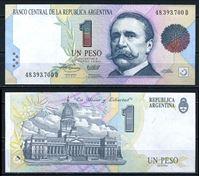 Изображение Аргентина  1992-94 гг.  P# 339b • 1 песо. •  регулярный выпуск • UNC пресс