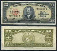 Изображение Куба 1960 г. P# 80с • 20 песо. Антонио Масео • Эрнесто Че Гевара • регулярный выпуск • XF