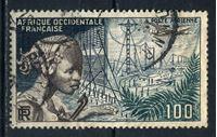 Изображение Французская Западная Африка  1954г. Iv# A19  • 100 fr. Телефонная связь •   авиапочта • Used VF