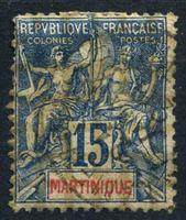 Bild von Мартиника  1892г. Iv# 36  • 15 c. •   стандарт •  F ( кат.- €9 )