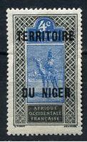 Picture of Нигер  1921-2 гг.  Iv# 3  • 4 c. Бедуин. надпечатка •  MLH OG XF