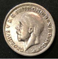 Изображение Великобритания 1931 г. • KM# 832 • 6 пенсов • Георг V (серебро) • регулярный выпуск • VF+