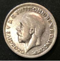 Bild von Великобритания 1931 г. • KM# 832 • 6 пенсов • Георг V (серебро) • регулярный выпуск • VF+