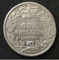 Image de Великобритания 1883 г. KM# 734.4 • 1 шиллинг • Королева Виктория (серебро) • регулярный выпуск • VG