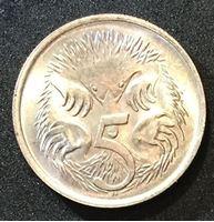 Изображение Австралия 1966 г. • KM# 64 • 5 центов • утконос • регулярный выпуск • MS BU люкс! ( кат.- $9,00 )