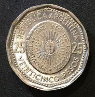 Image de Аргентина 1964 г. KM# 61 • 25 песо • 150-летие национальной валюты • памятный выпуск • MS BU