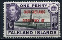 Изображение Южные Оркнейские острова 1944-45 гг.  Gb# D2  • 1d. Мемориал павшим воинам. надпечатка XF