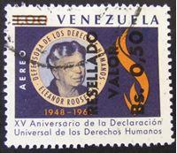 Изображение Венесуэла 1964 г. Mi# 1555 • Э. Рузвельт. 15 лет принятия декларации прав • Used XF