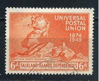 Image de Фолклендские зависимые территории 1949г. Gb# G24  • 6d. •   75-летие ВПС(UPU) • Used XF ( кат.- £4 )
