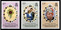 Изображение Фолклендские зависимые территории 1981г. SC# 1L59-61  • Свадьба Дианы и Принца Чарльза •  MNH OG XF / полн. серия