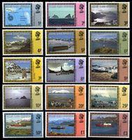 Изображение Фолклендские зависимые территории 1980г. SC# 1L38-52  • Виды островов •   Елизавета II основной выпуск • MNH OG XF / полн. серия ( кат.- $20 )
