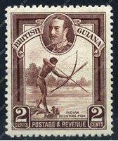 Изображение Британская Гвиана 1934-51 гг. Gb# 289 • 2c. рыбалка с луком • MH OG XF