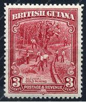 Изображение Британская Гвиана 1934-51 гг. Gb# 290 • 3c. Добыча золота • MNH OG XF